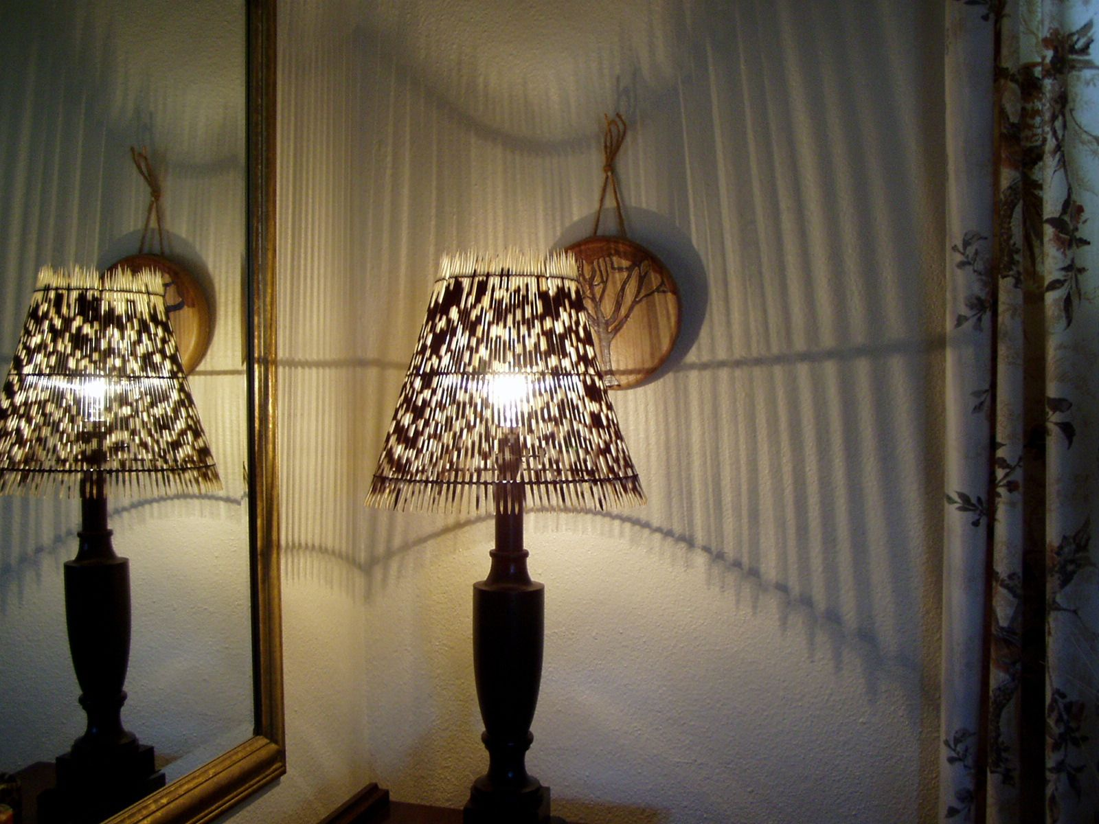 Lights & porcupine quill lampshade - so cooL! | African Style and Decor ... azcodes.com