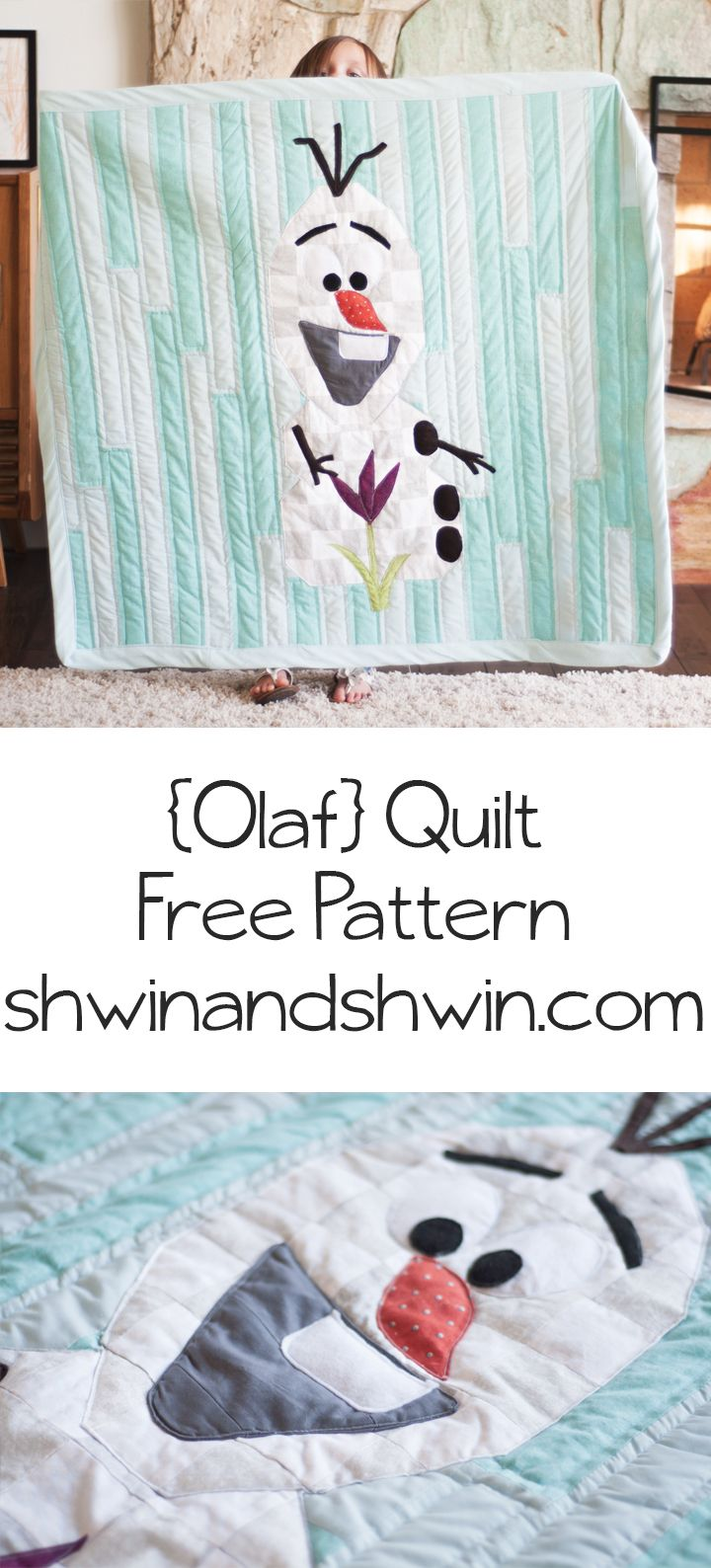 Olaf Frozen Quilt || Free Pattern and Tutorial || Shwin&Shwin ...