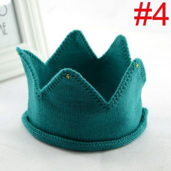 Baby crown Headband Girls Crochet hair accessories Children hair bands Soft Headwear Hair Band 1pc HB278