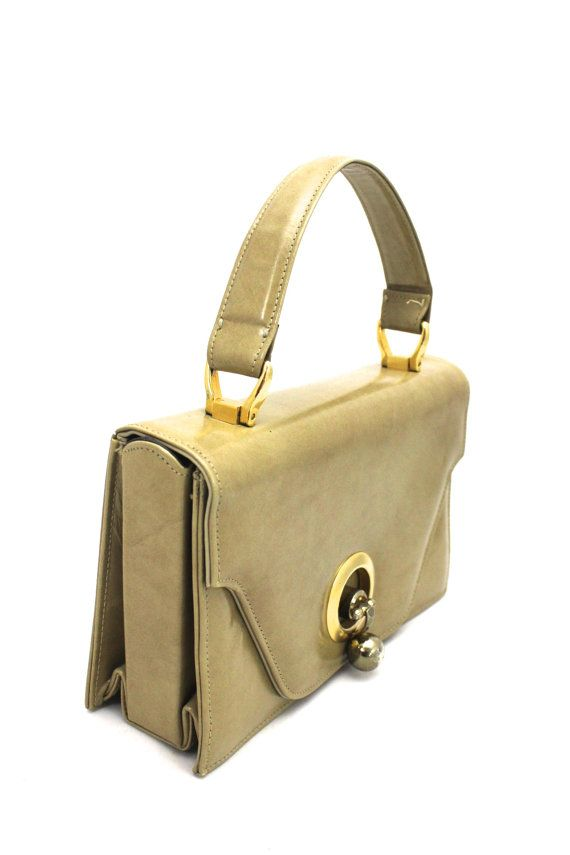 080c23de1f9a Rare VTG 1960s Rosina Ferragamo Schiavone Handbag Cool Knob Clasp ...