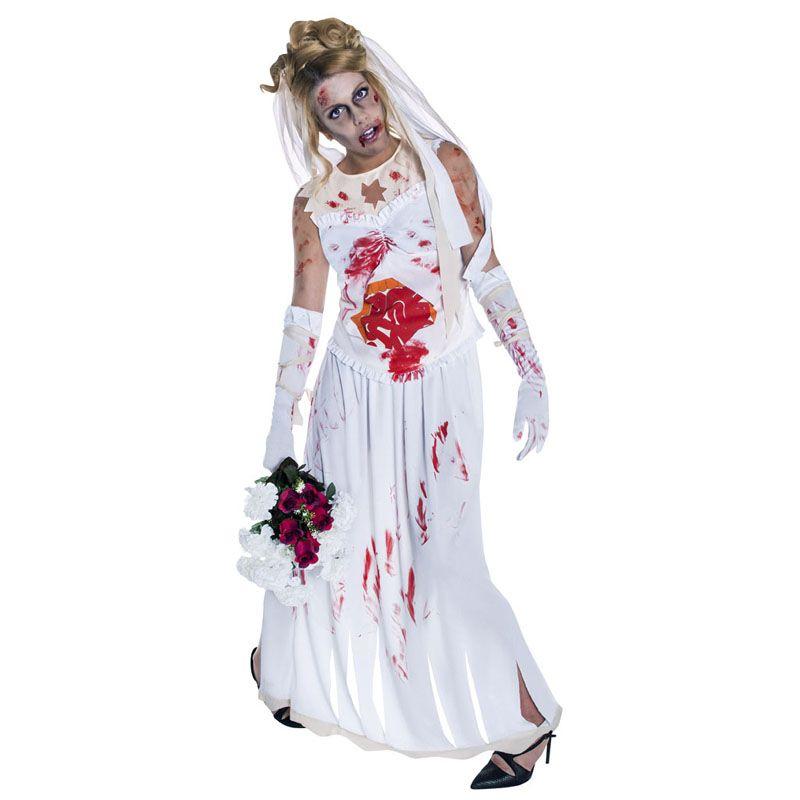 Disfraz de Novia Zombie #tienda #disfraces #halloween #novedades - imagenes de disfraces de halloween
