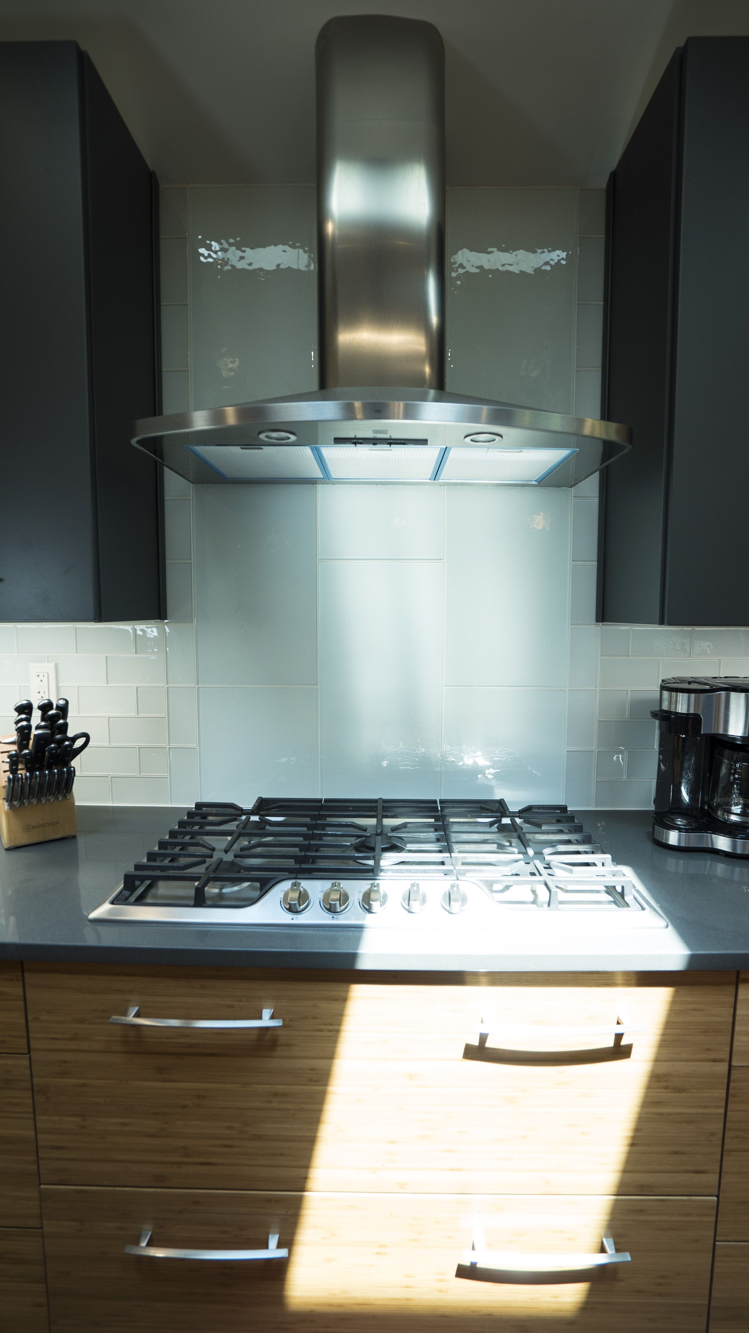 The Regular Subway Tile Changes Size And Orientation By The Cooktop  #kitchen #remodel #homedesign #homedecor #design #interiordesign #cabinets  #door #style ...