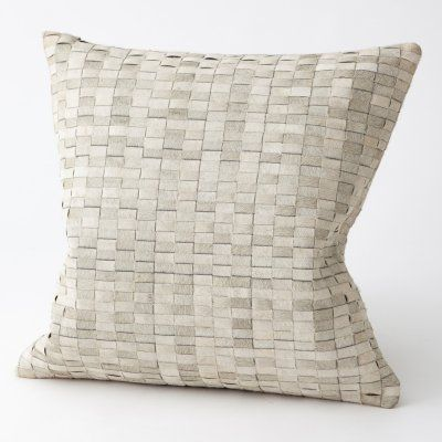 Studio A Home Brickweave Hairon Decorative Pillow In 40 Products Magnificent Max Studio Home Decorative Pillow
