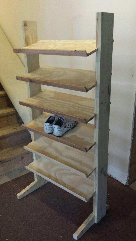making shoe racks shoe rack homemade shoe rack on wood shoe rack diy simple id=56660