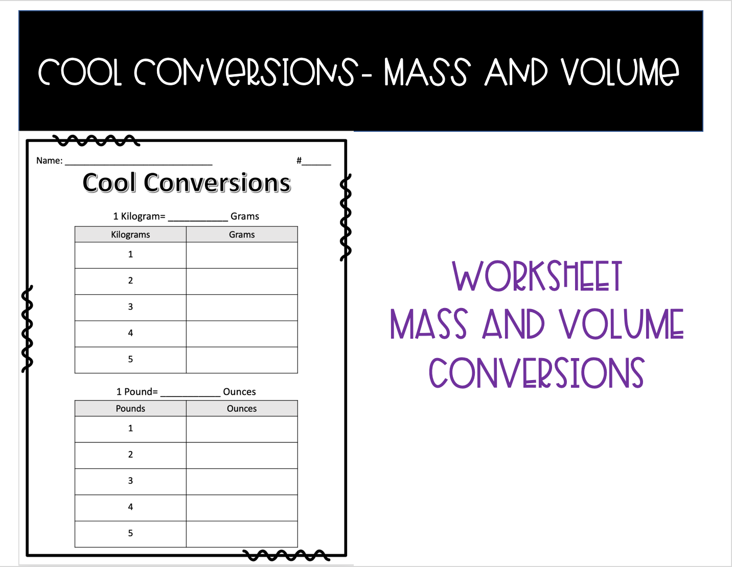 Cool Conversions Fun With Mass And Volume In