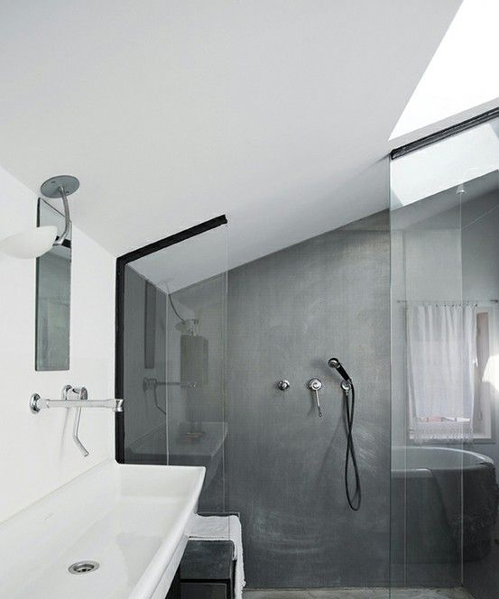 Dachschräge dachzimmer Pinterest Dachschräge, Badezimmer und - dachschrgebadezimmer