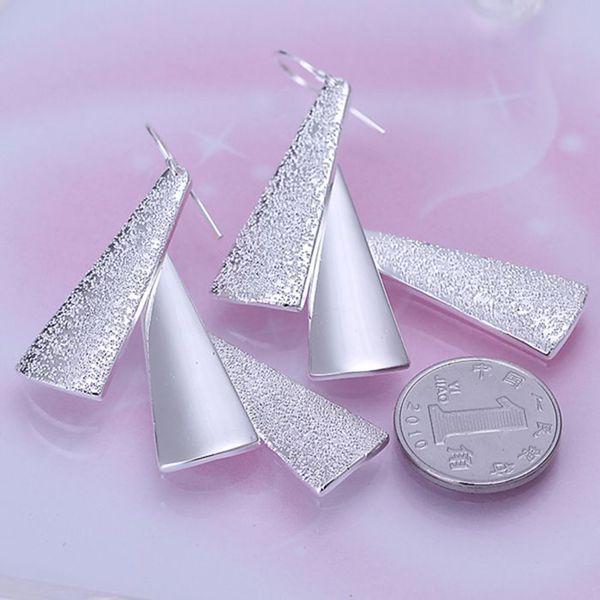 925-sterling-silver 귀걸이, 925 보석 실버 도금 패션 보석, 트리플 조각 귀걸이 e015/ceaakvha dviammpa