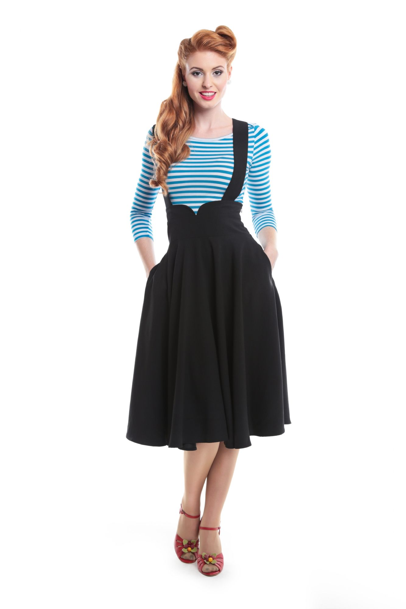 Collectif, Mary Plain Swing Skirt | Retro Rockabilly Vintage ...