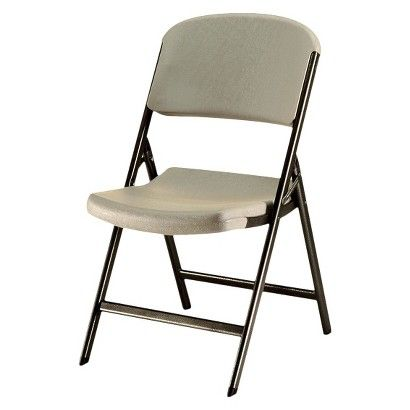 4pc Heavy Duty Folding Chair Putty Lifetime Folding Chair