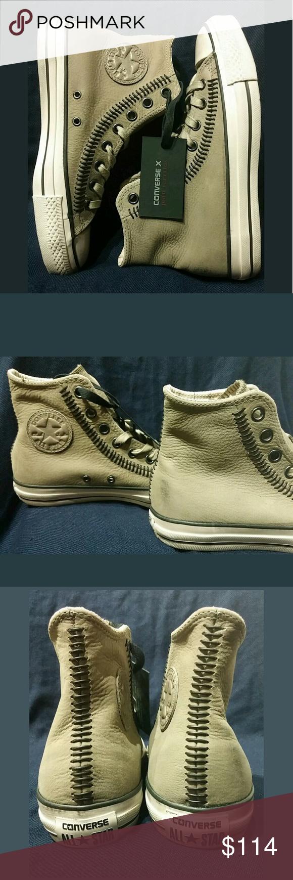 c0002e57befbb7 Artisan · Stitch · Converse John Varvatos Chuck Taylor Hi Top Leather NWT!  Very nice! 100% Authentic