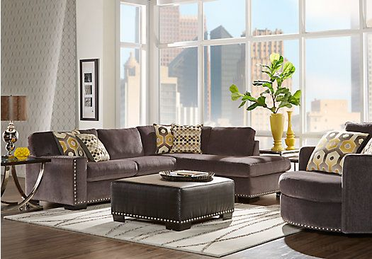 shop for a sofia vergara laguna beach 3 pc sectional living room ... - Big Sofa Laguna Magic Cream