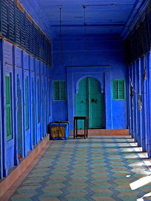 Osiyan marine blue in Jain Temple by Zé Eduardo… on Flickr.