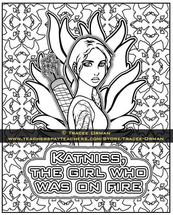 The Hunger Games Coloring Pages Book | Hunger games, Gaming and Books
