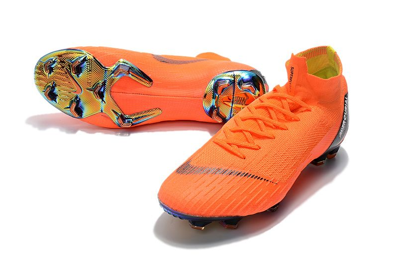 2018 World Cup Nike Mercurial Superfly 360 Orange Soccer Cleats Football Boots Soccer Shoes