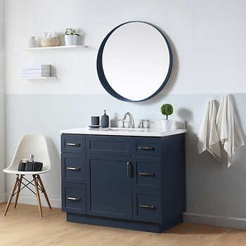 Vanity Bathroom Costco $849 ugly colour, neat features ove william 42 in. single vanity