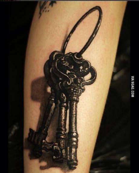 Brass keys tattoo | Body Paint | Key tattoos, Tattoos ...