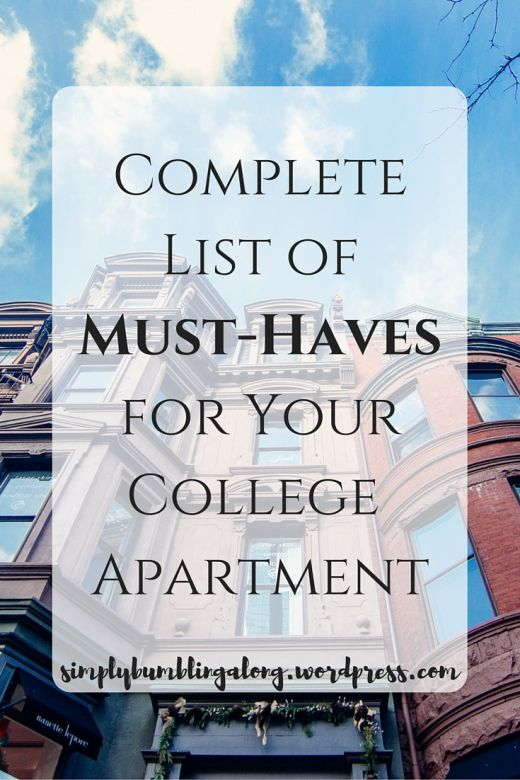 Must-Haves for Your First Apartment   Apartments, College and ...