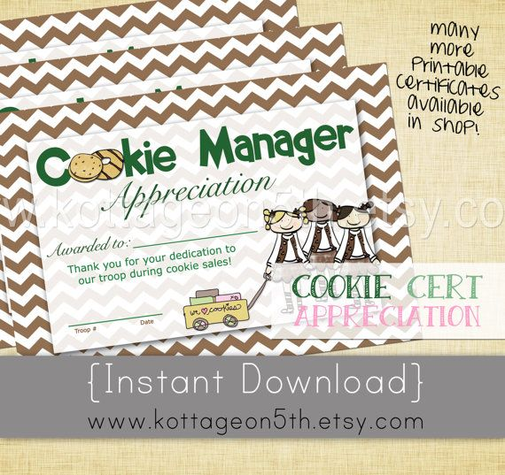 Pin This Cookie Manager Thank You  Brownie Girl Scout
