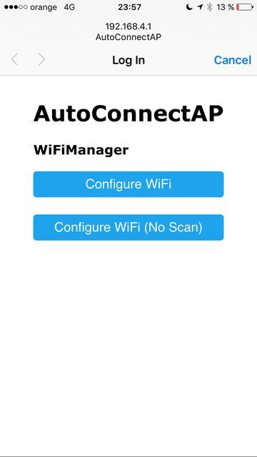 ESP8266 WiFi Captive Portal Homepage  Start page for entering your