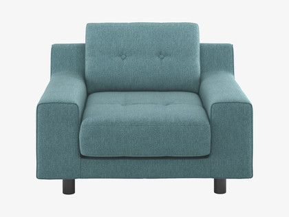 Hendricks Teal Blue Fabric Armchair Fabric Armchairs