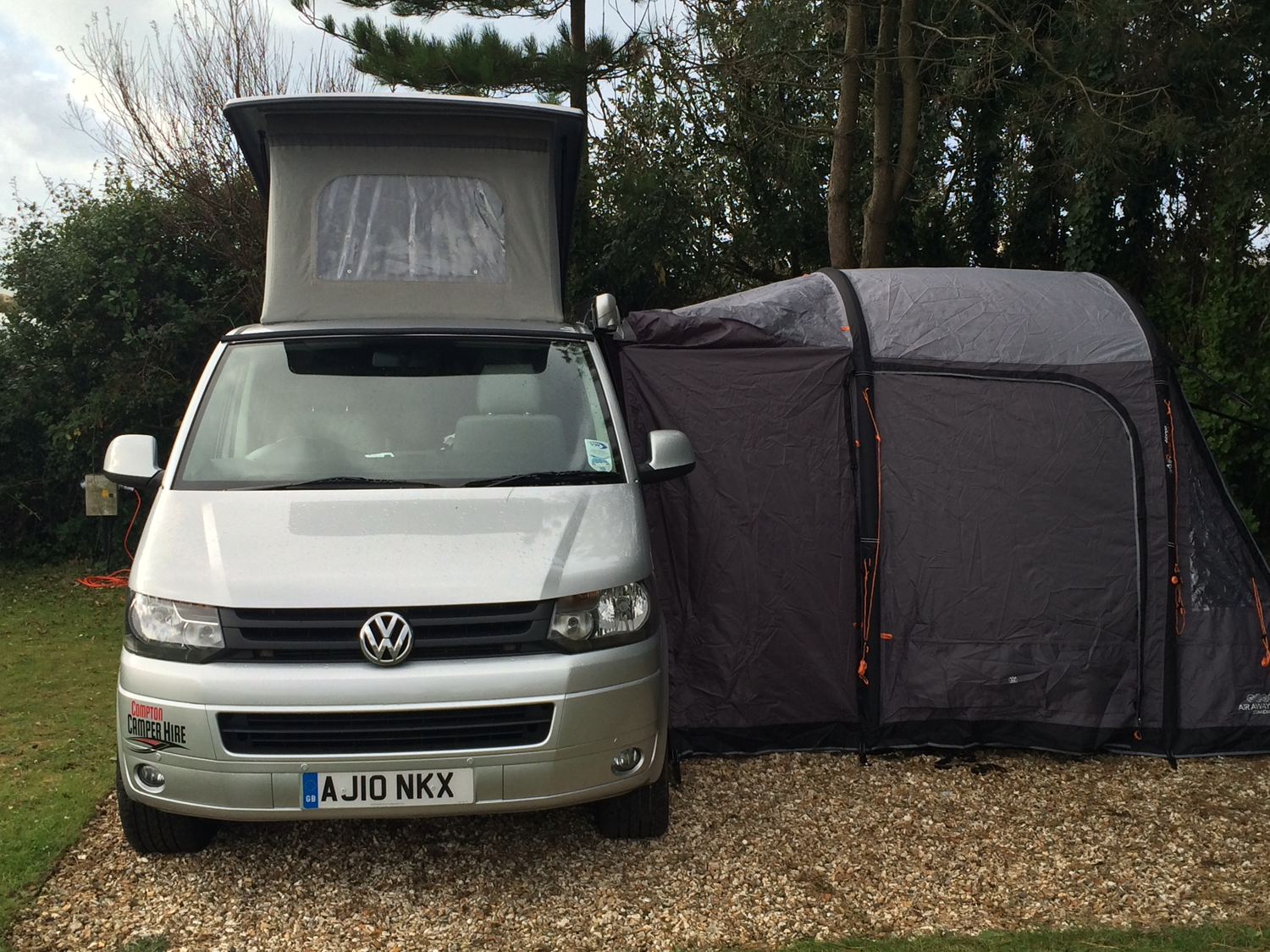 Add a Vango Airbeam side awning for a permanent base camp ...