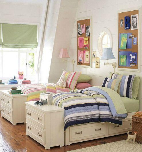 Dormitorios mixtos 5 decoracion ni os pinterest - Dormitorios bebes nina ...