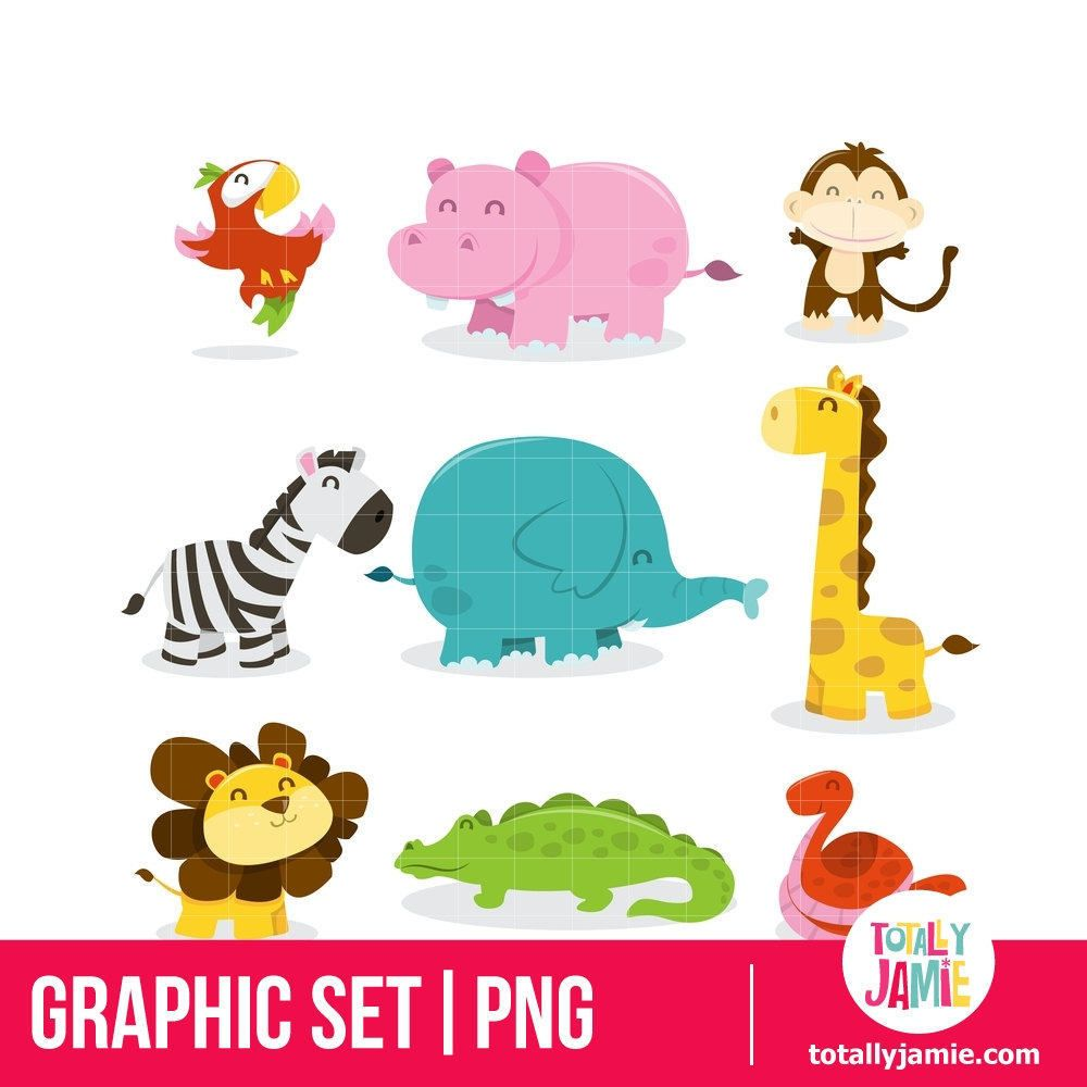 jungle animal clipart cute jungle animal clipart jungle theme rh pinterest com au cartoon safari animals clipart cute safari animals clipart