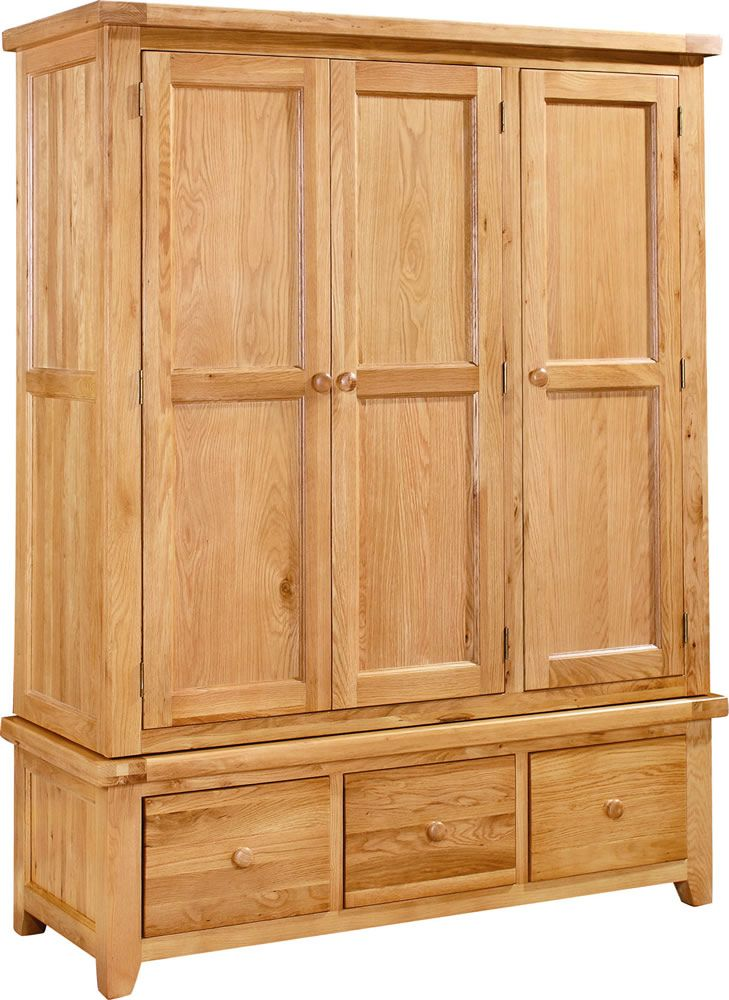 Devon Oak Triple Wardrobe With 3 Drawers we have on our site! http ...