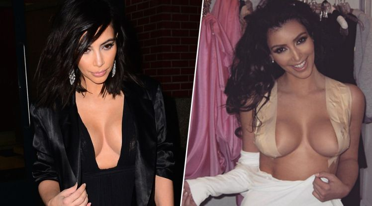 f05fe8d3389 Kim Kardashian s Secret Trick For Perfect Cleavage Is Duct Tape ...