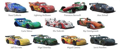 World Grand Prix Racecars In 2020 Disney Cars Characters Cars Characters Cars Movie