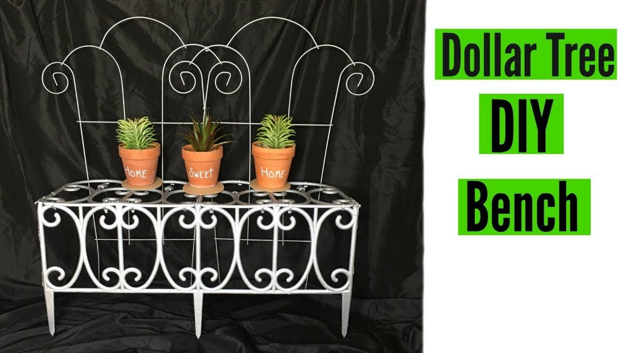 Diy Dollar Tree Decorative Porch Bench Home And Garden Decor