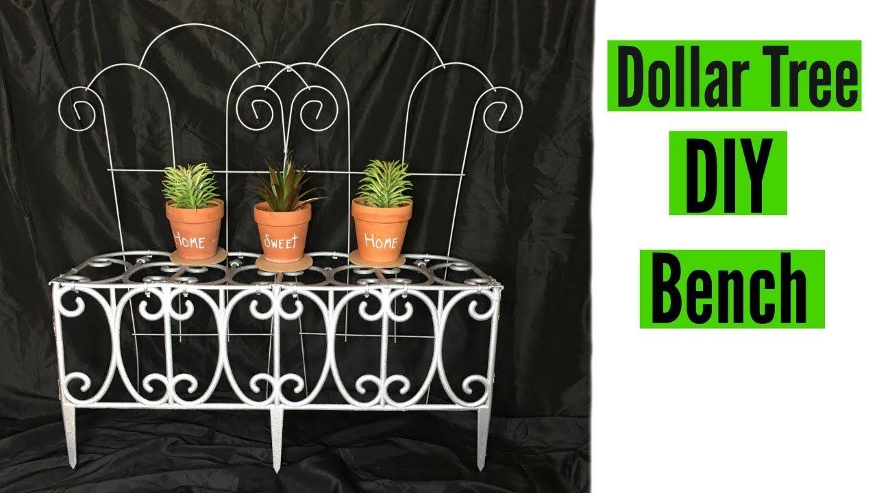 Diy Dollar Tree Decorative Porch Bench Home And Garden Decor Diy Tree Decor Dollar Tree Diy Crafts Dollar Tree Diy