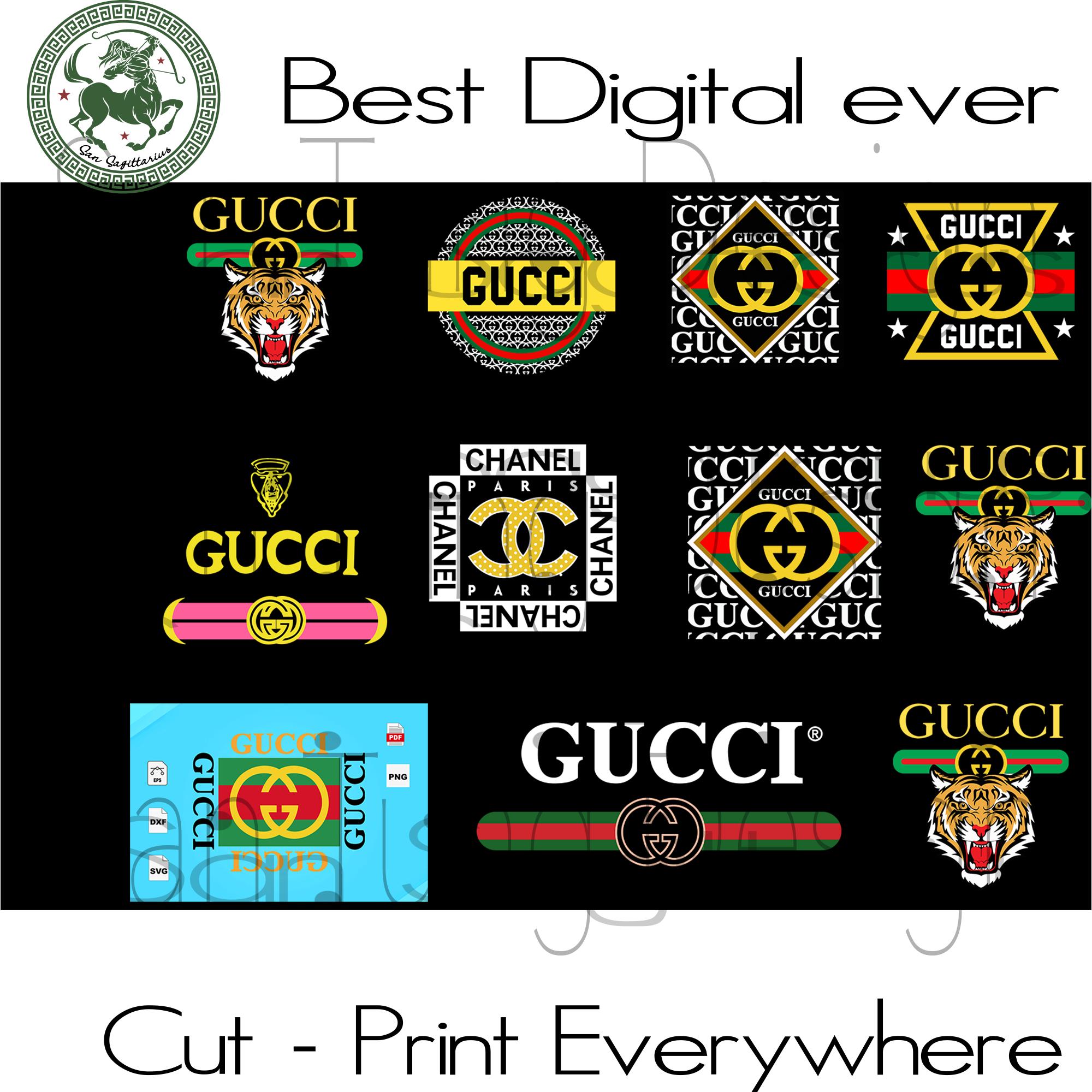 Gucci Logo Svg, Gucci Svg File, Gucci T Shirt, Vintage