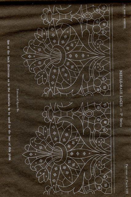DMC Library: Needle-Made Laces (Eva Lon - Picasa Web Album; via Maria Antonia Di Stefano, Tombolo)