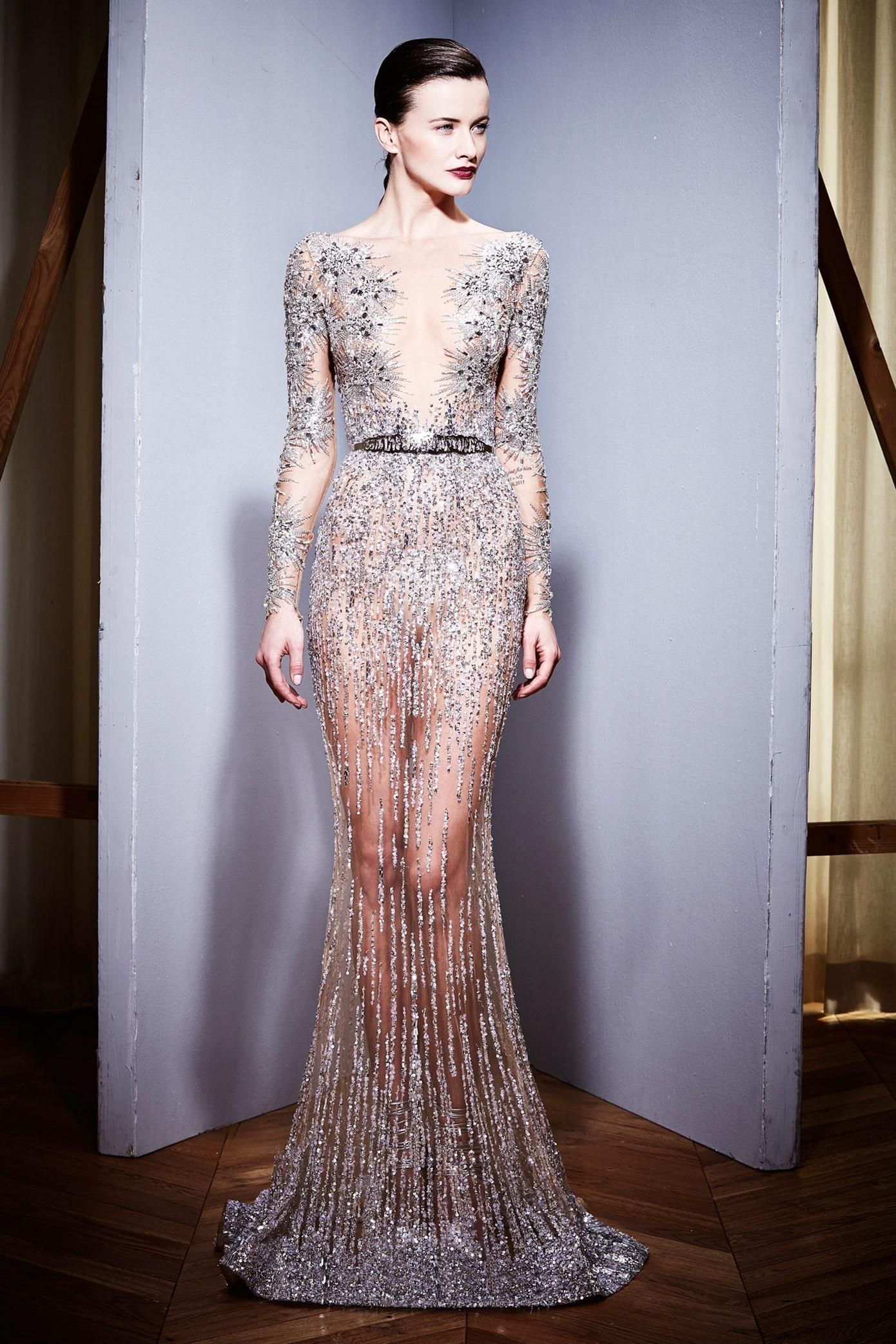 Second Hand Evening Dresses 2016 Luxury Zuhair Murad Sheer Long ...