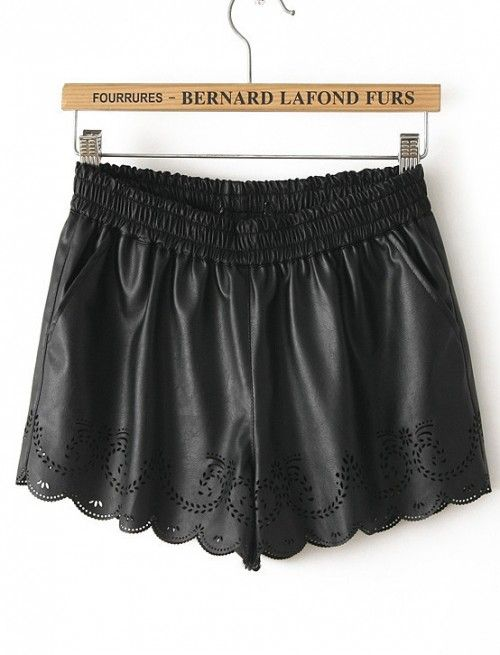 Tendencia: Cuero (con imágenes) | Pantalones cortos de ...
