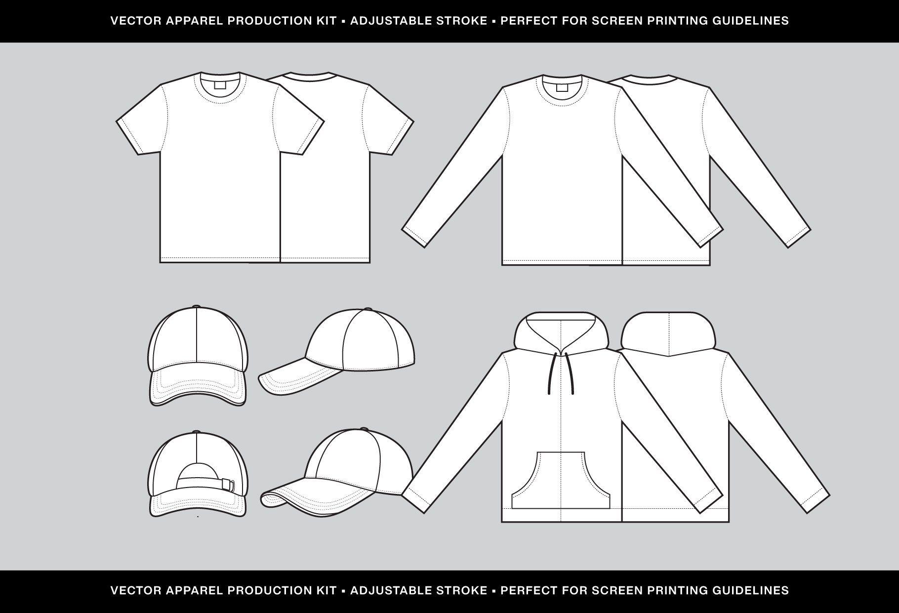 Download Vector Apparel Template Pack Kit V 1 Coach Jacket Templates Brochure Design Template