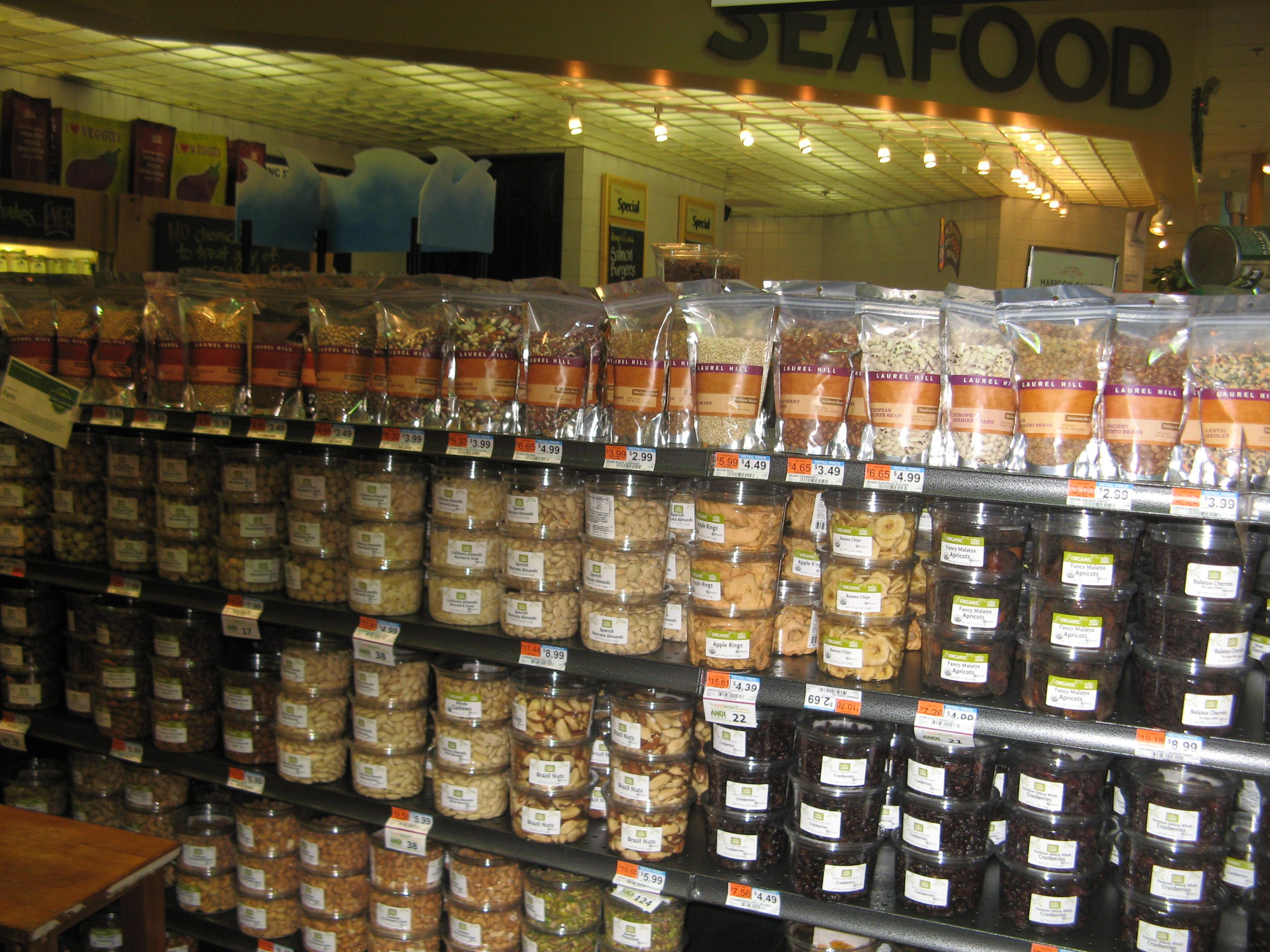 Laurel Hill beans and grains cross merchandised with bulk