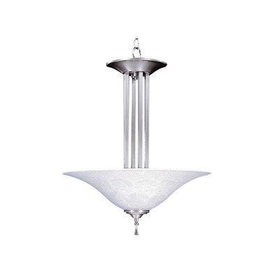 Framburg Bellevue 3 Light Inverted Pendant Finish: Brushed Stainless / Polished Nickel