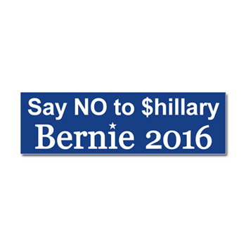 Say No To Shillary Car Magnet 10 X 3
