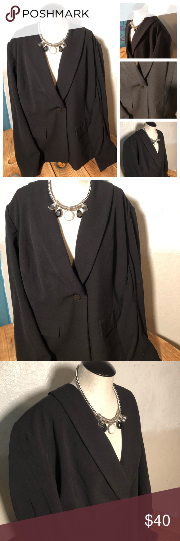 Lane Bryant Black Dress Jacket Lining And Buttons Black Dress Jacket Jacket Dress Lane Bryant Dresses [ 1740 x 580 Pixel ]