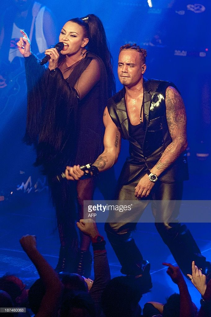 Ray Slijngaard R And Anita Doth Of 2 Unlimited Perform With A Live Band In Amsterdam S Melkweg The Netherlands During The M 2 Unlimited Mtv Music Live Band