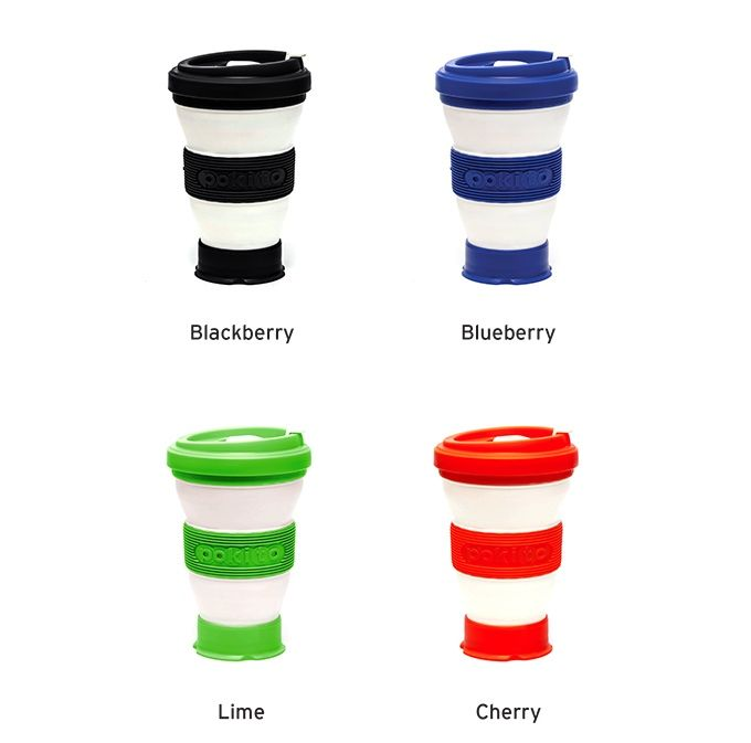 An Eco Friendly Cup That Adjusts To Three Sizes Then Scrunches Up When Youre Done Ditch Disposables Get A Pokito