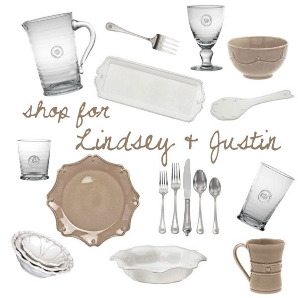 Lindsey Dickson & Justin Jones - shop their entire registry @ http://charlestonstreet.com/registry.asp?action=view&id=1790