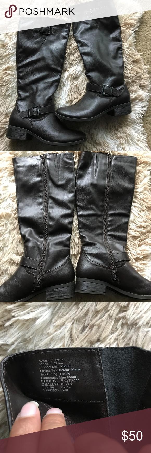 3e781a665b03 Chocolate brown riding boots Worn three times chocolate brown riding boots  size 7 go right below