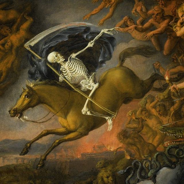 Detail, Death Leading Hell's Army, English School, circa 1800