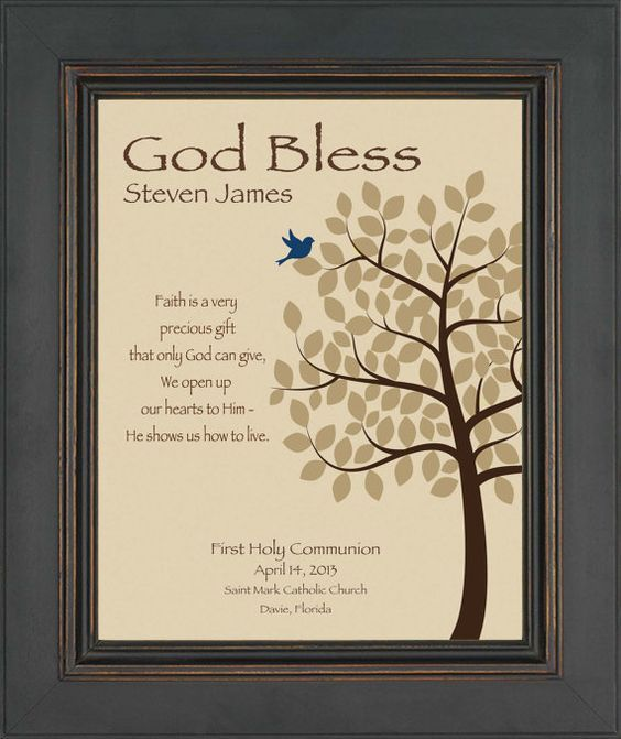 Personalized Communion Gift- First Holy Communion Print - Boy ...