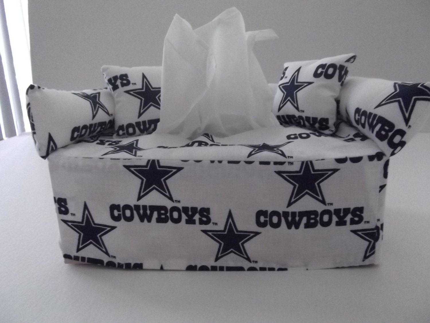 Awesome Dallas Cowboys Sofa Tissue Box Cover Handmade   New (Tissues Included)