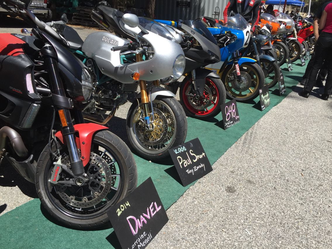 The Red Diavel made it into the show at Cafe Desmo!