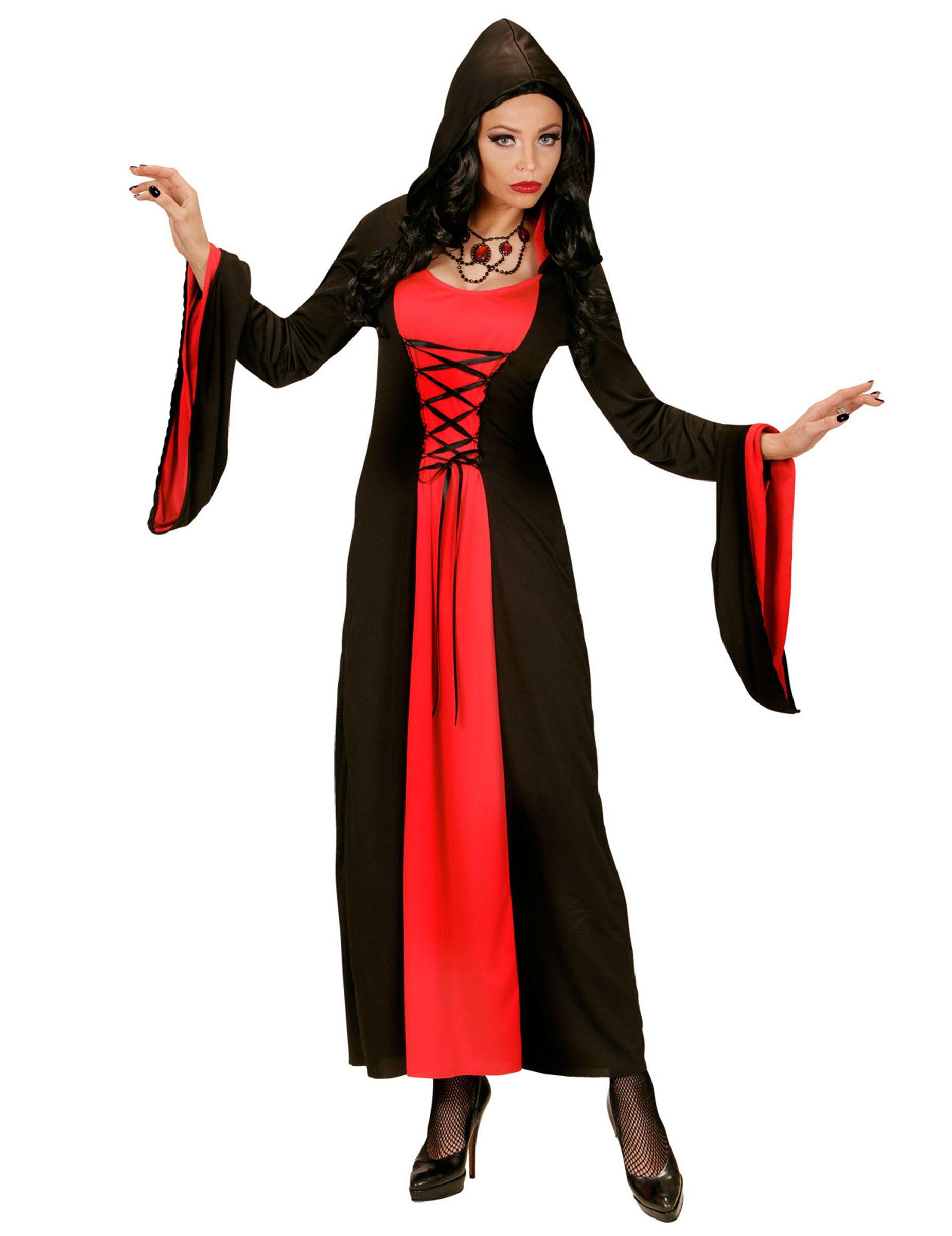 Robe noire longue deguisement
